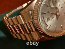 Vintage Rolex Day-Date President Ultra Rare Solid Rose Gold Shah of Iran