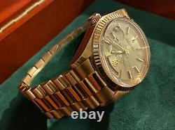 Vintage Rolex Day-Date President Ultra Rare Solid Rose Gold Special Edition
