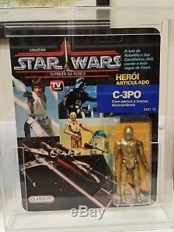 Vintage Star Wars 1988 GLASSLITE Brazil C3P0 MOC MOSC Ultra Rare! VHTF Unpunched