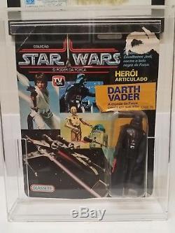 Vintage Star Wars 1988 GLASSLITE Brazil Darth Vader MOC MOSC Ultra Rare! VHTF