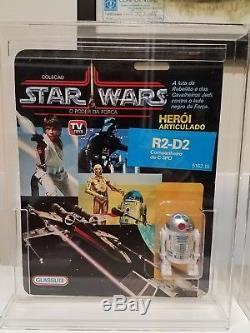 Vintage Star Wars 1988 GLASSLITE Brazil R2D2 MOC MOSC Ultra Rare! VHTF MINT