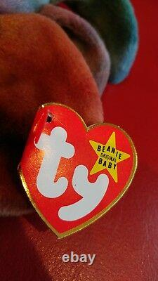 Vintage TY Beanie Babies RETIRED Claude the Crab Ultra Rare Version with Errors