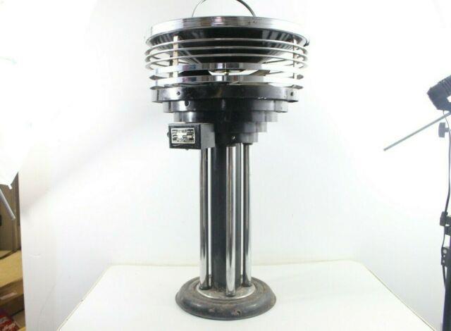 Vintage Ultra Rare Art Deco Chrome Fan Ashtray Stand Senator Smoking Room