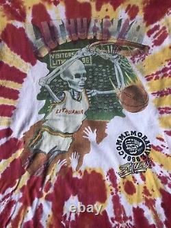 Vintage ULTRA RARE Grateful Dead Lithuania Basketball SHAKEDOWN Tie-dye XL Shirt