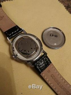 Vintage Ultra Rare 1965 Timex Marlin Orange dial mens watch PRISTINE&SERVICED