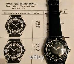 Vintage Ultra Rare 1970 Timex Skin Diver 200Ft Men's Divers Watch MINT&SERVICED
