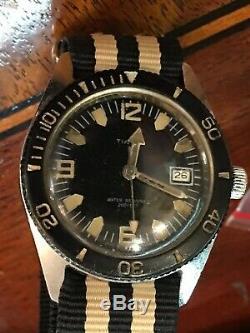 Vintage Ultra Rare 1970 Timex Skin Diver 200Ft Men's Divers Watch SERVICED