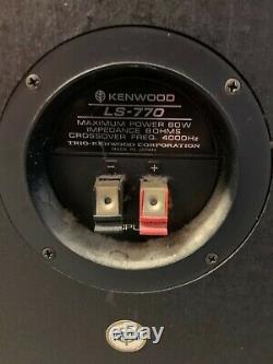 Vintage Ultra Rare 1980 Kenwood LS-770 LS 770 Speaker System Trio