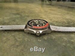 Vintage Ultra Rare Barracuda 200M FE 7022 Dive Watch Diver Pepsi Coke Bezel