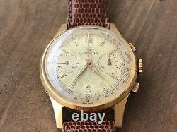 Vintage Ultra Rare Certina Chronograph Venus 188 Mens Watch