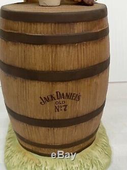 Vintage Ultra Rare Jack Daniel Esquire Porcelain Decanter Japan Excellent