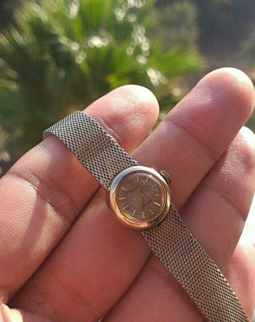 Vintage Ultra Rare Precision Ladies 1940s 18k Gold Swiss Made Rolex Wrist Watch