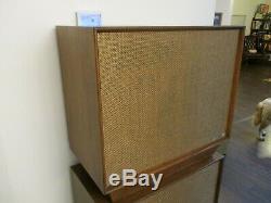 Vintage Ultra Rare x2 RCA Victor Speakers Beautiful Mid Century