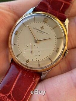 Vintage Vacheron Constantin 4195 P453 Watch Orologio Dial Bitonale Ultra Rare