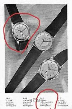 Vintage Watch PIAGET CALATRAVA 35mm STEEL 50's Pre Altiplano ULTRA RARE (NO 9P)