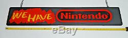 Vintage We Have Nintendo Retail Display 2 Sided Sign -Model M37BA Ultra Rare