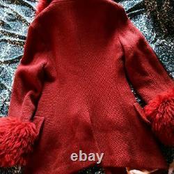 Vivienne Westwood Vintage Fur Trim Coat Size 42 Ultra Rare