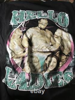 Vtg 90s Original Bootleg WWF Val Venis XL Rap Tee Shirt Ultra Rare Wrestling