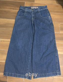 Vtg Jnco Mammoth Jeans Sz 34x31 30 In Open Big Pocket Ultra Wide Skate Rare