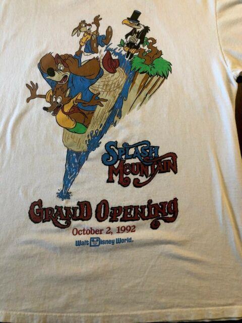 Vtg Splash Mountain Disney Grand Opening 1992 Ultra Rare Shirt T Vintage Xxl Wdw