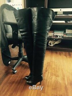 Wild Pair Ultra Rare Vintage 34 Leather Thigh High Over The Knee Crotch Boots