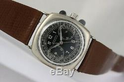 Zenith vintage chronograph! Unusual & Ultra rare! Silver case! Caliber 122